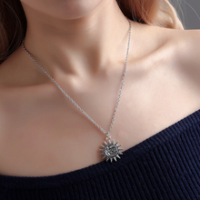 Double Sides Sun Moon Pendants Round Cross Chain Short Long Mens Womens Silver Necklace Jewelry Gift Fashion