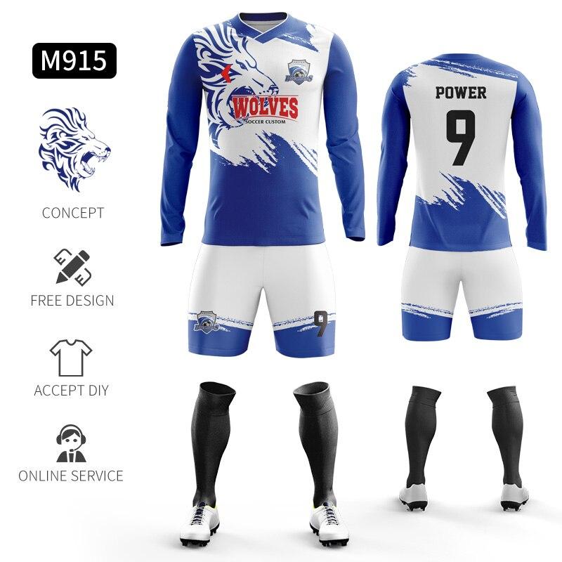 Custom Football Jerseys Full Sublimation Printing Soccer Jerseys Club Team Football Training Uniform Suit Soccer Uniform For Men 27