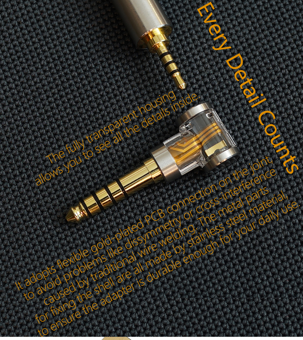lowest price DD DJ35A DJ44A 2 5mm 4 4 Balanced adapter  Apply to 2 5mm balance earphone cable from brands such as Astell amp Kern FiiO etc