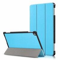 Ultra Slim החכם מגנטי פו עור קשה פלסטיק חזור חכם מקרה עבור Huawei MediaPad M5 לייט 10