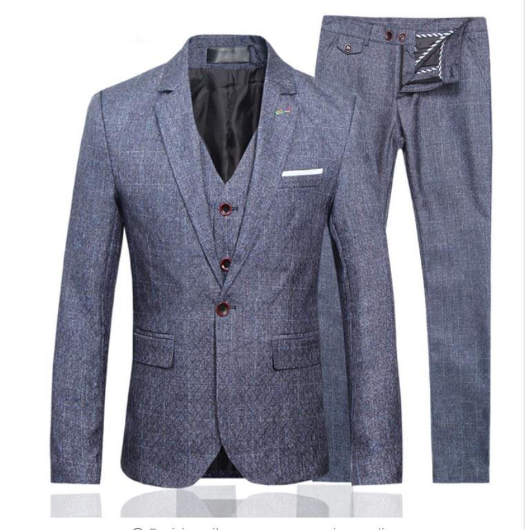 2019 Suit Men High Quality Gray Wedding Suits,Blazer Men,Wedding Dress,Business Men's Suits(Jacket+Vest+Pants)terno Masculino
