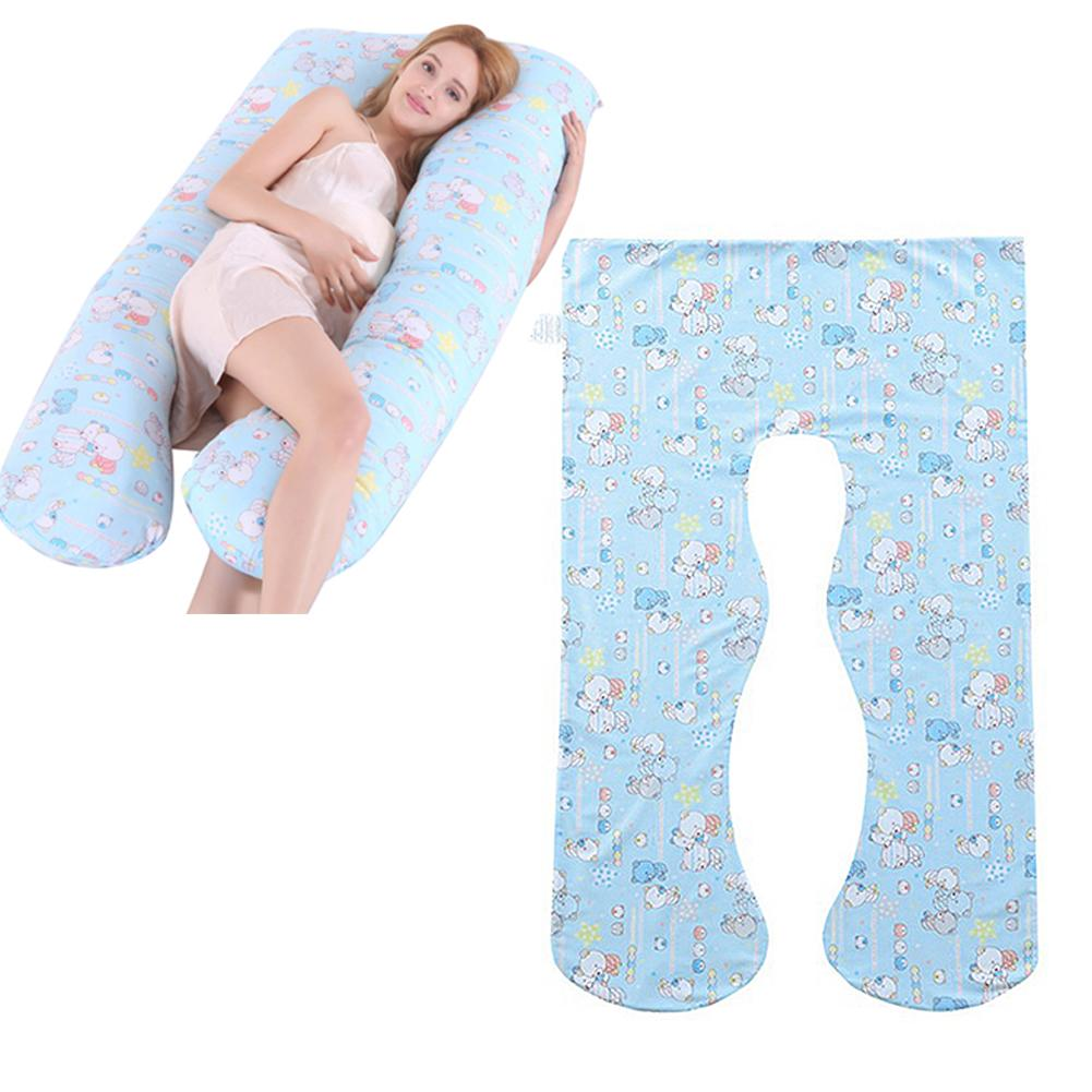 Pregnancy Pillow Cases Removable Cover Decorative U Shaped Body Pillows Case For Maternity Pillowcase Detachable With Zip
