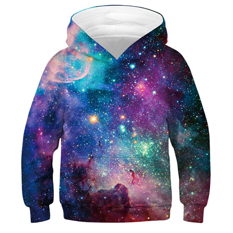 2020 Spring Starry Sky 3d Children's Sweatshirt For Boy Hoodies & Sweatshirts For Girls Teen 3d Hoodies Kids Clothes