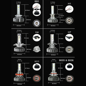 Image 5 - Zdatt H7 ledランプH4 led H8 H9 H11アイスランプH27 880車のライト9005 HB3 ledヘッドライト12000LM 100ワット6000 18k 12v自動車ランプ