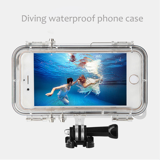 Duiken Waterdichte Telefoon Case Met Gopro Mount Adapter Voor Iphone 6 6S Plus 5 Shockproof Telefoon Cover Voor Gopro sport Accessoires