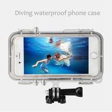 צלילה עמיד למים טלפון מקרה עם Gopro הר מתאם עבור iPhone 6 6s בתוספת 5 עמיד הלם טלפון כיסוי עבור gopro אביזרי ספורט