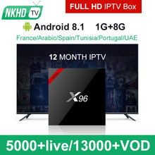 X96W TV Box With NKHDTV IPTV Activation Code 1 Year Subscription Europe French Italian Channels Android Arabic TV Box(China)