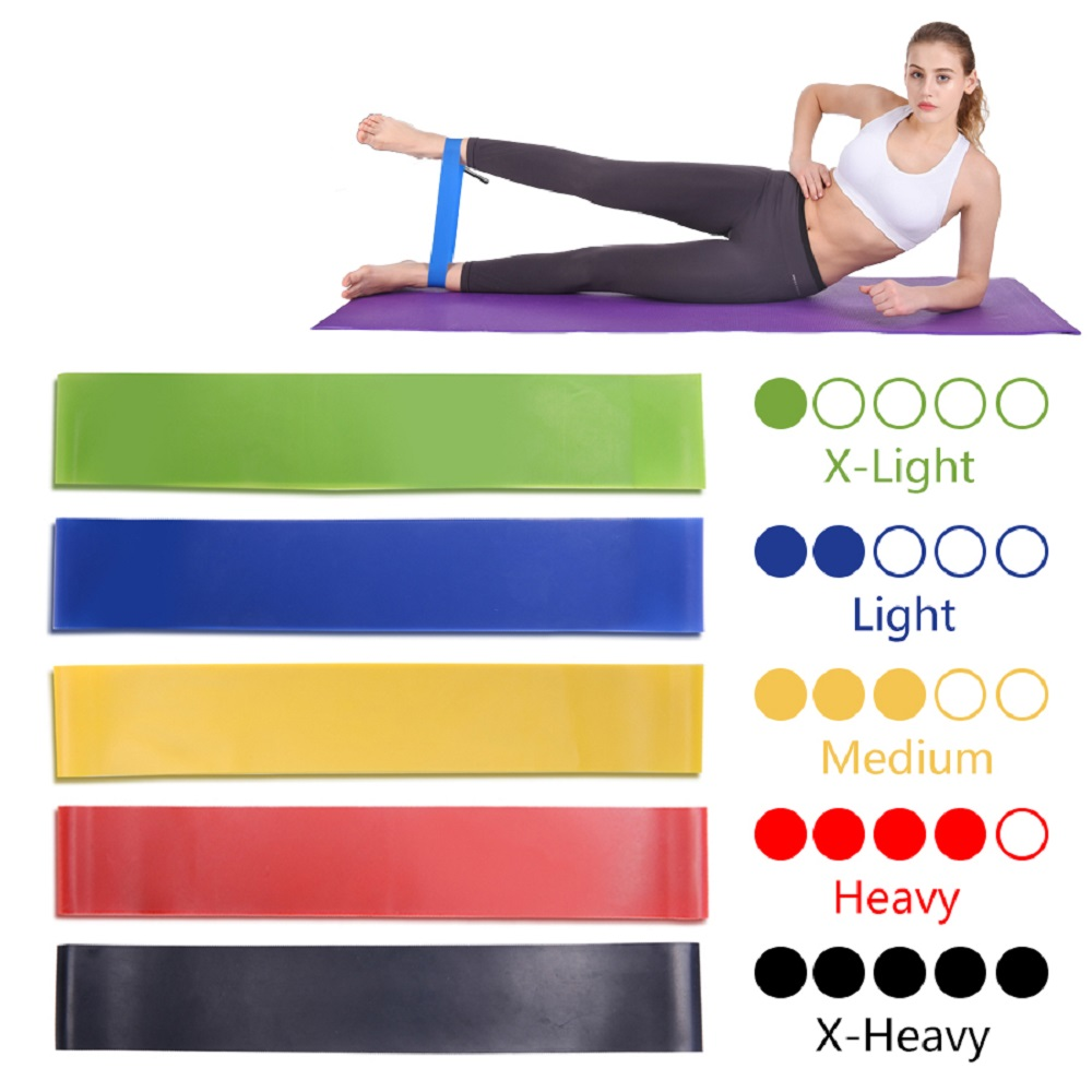 Loop Theraband Rubber Workout Gym Training Elastic Resistance Bands Men Women Kinetic Leagues Exercise Equipment Fitness Gum