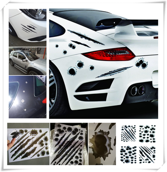 Car decoration scratch block simulation bullet hole sticker for BMW 335is Scooter Gran 760Li 320d 135i E36 F30 image