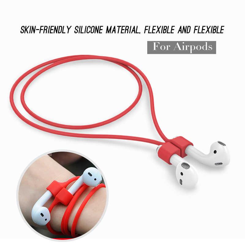 عالية الجودة لينة خط الكابلات ل AirPods برو سماعات بلوتوث خاتم سيليكون الحبل ل AirPods 1 2 سماعة هوائية مغناطيسية حزام