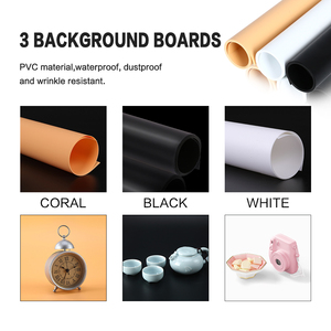 Image 4 - 70x70CM Photo Studio Soft Boxes Foldable Photography Table Shooting Light Tents Kit With 3Pcs Backdrop For Still Life