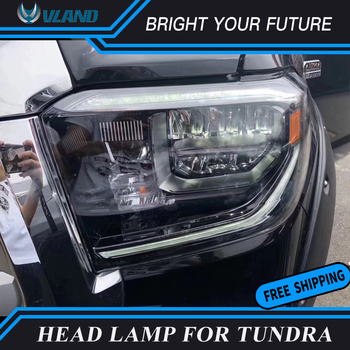 Head Lamp for Toyota Tundra 2014-2019 Full LED HeadLights with Sequential Indicator