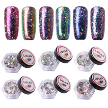 1Box Nail Holographic Nail Glitter Stickers Manicure Chrome