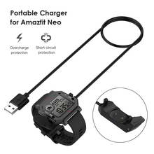 1M Smartwatch USB Charging Cable Cord Base Dock Charger Cradle Adapter Stand for Huami Amazfit Neo Sport Smart Watch