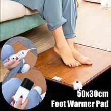 3 модели кожаный нагревательный коврик для ног теплые электрические нагревательные колодки ноги теплый коврик термостат инструменты для подогрева дома и офиса 60 Вт