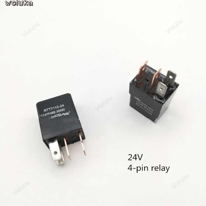 รีเลย์กันน้ำรถพัดลมปั๊มน้ำมัน 12V24V ปรับ Universal 4-Pin 5 พิน EFI รีเลย์ CD50 Q04
