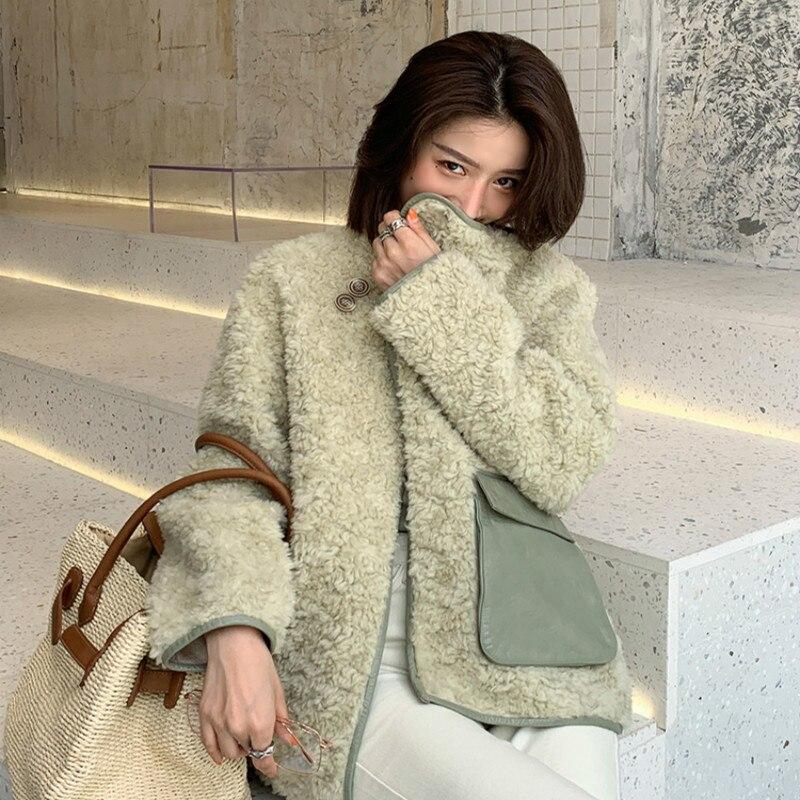 Sheep Shearing Winter Coat Women Real Fur Jacket For Womens Clothing 2020 Manteau Femme ABM19001AW YY251