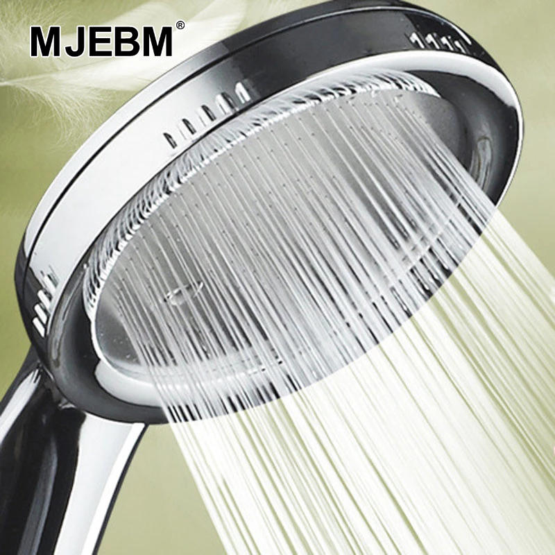 Nozzle Shower-Head Bathroom-Accessories Rainfall Chrome Pressurized Water-Saving ABS