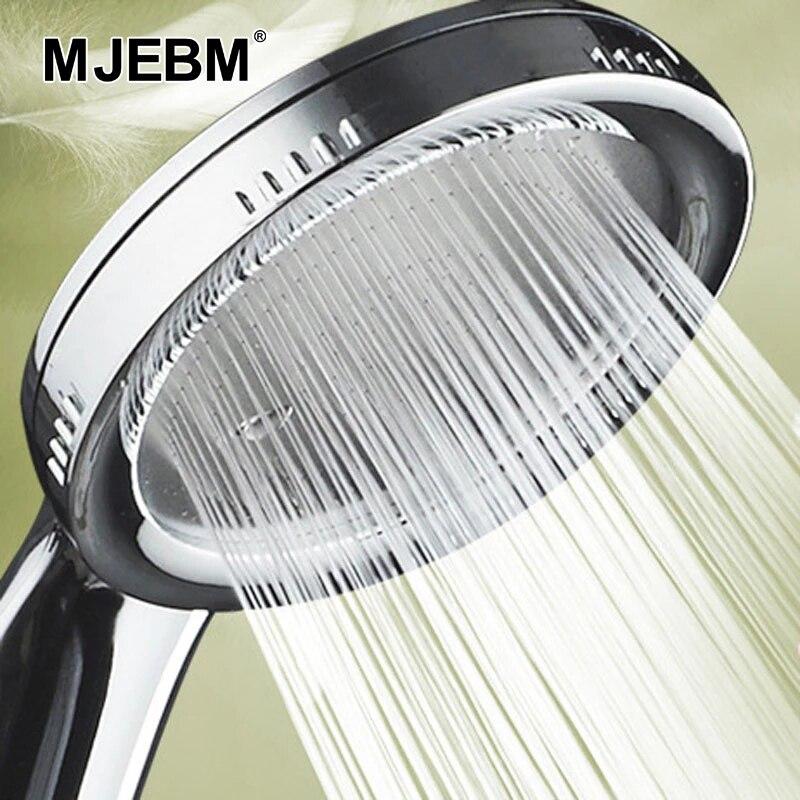 1 шт. под давлением насадка Насадки для душа Аксессуары для ванной комнаты с функцией экономии воды под высоким давлением осадков ABS Хромиро...