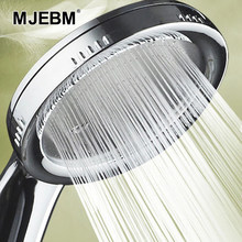 1PC Druck Düse Dusche Kopf Bad Zubehör Hochdruck Wasser Wassersparregen ABS Chrom Dusche Kopf