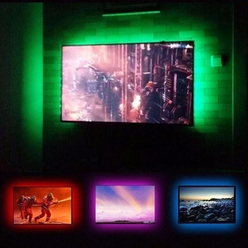 He228e30a47754feab32785ef65c0d9d4c - 5V USB TV LED Strip Light Lamp Tape 3528 SMD Diode Flexible HDTV TV Desktop Screen Backlight Decor RGB Bias Lighting 0.5M/1M
