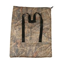 Quality 1 Pc Hunting Polyester Mesh Decoy Bag with Dry Grass Camouflage Printing Waterfowl Duck Goose Turkey Durable Decoy Bags(China)