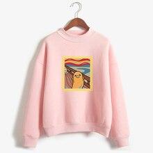 Gudetama Van Gogh Oil Painting Hoodies Sweatshirts Women Fle
