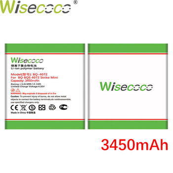 WISECOCO 3450mAh Battery For BQ BQS 4072 BQ-4072 strike mini Smart Phone Latest Production High quality battery+Tracking Number wisecoco bv9000 2pcs 7150mah new produced battery for blackview bv9000 bv 9000 pro high quality phone battery replace tracking