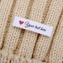 Ribbon-Labels Knitting Custom Labels-Personalized Cotton Brand Organic Text MD3025