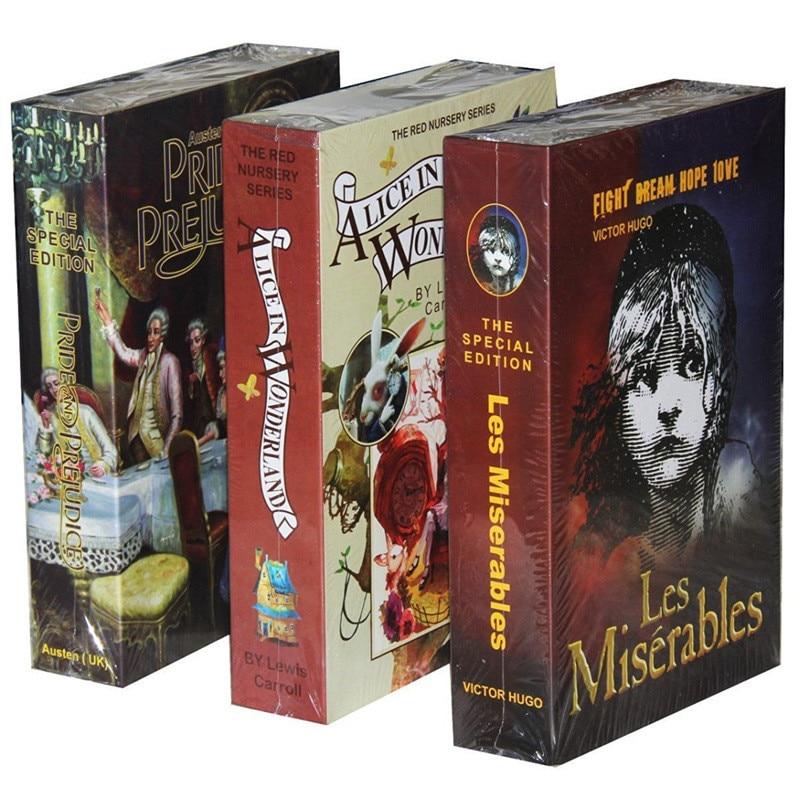 Защитный Сейф для книг тип ключа Высокое качество секретная книга скрытый Сейф металлическая сталь имитация классического книжного стиля ...