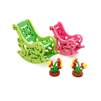 Rocking chair 3D assembling furniture Wooden Puzzle toys, Model Building Kits Wood Toy,Baby gift Assembly puzzles Furniture Toys luckk 80cm diy danmark assembling building kits wooden model ships exquisite home interior decoration crafts sailboat toys gift