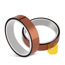 2 Rolls 10mm X 33m Heat Resistant Tape Heat Transfer Tape Thermal  High Temperature for Sublimation for Heat Press No Residue