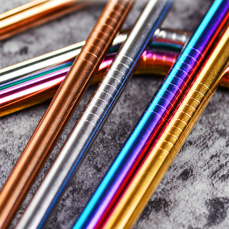 100pcs-set-Eco-Friendly-Metal-Straw-Reusable-304-Stainless-Steel-Drinking-Tubes-215mm-6mm-Straight-Bent (2)