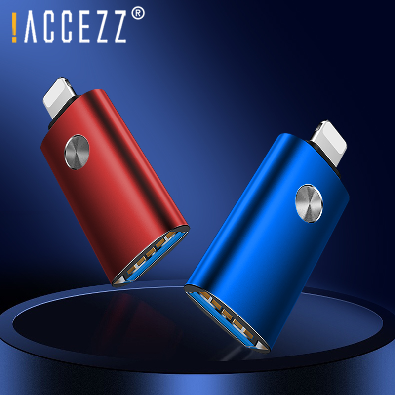!ACCEZZ For Iphone OTG Adapter IOS13 For IPhone 11 Pro Max X Phone Charging Data Sync U Disk Lighting To USB OTG Connect Adapter