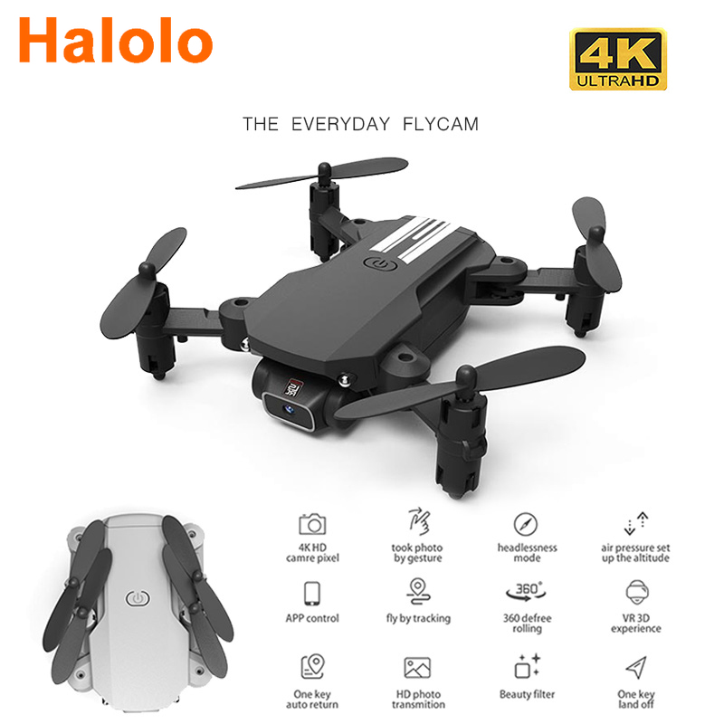 Halolo drone 4k HD wide angle camera wifi fpv drone height keeping drone with camera mini drone video live rc quadcopter dron
