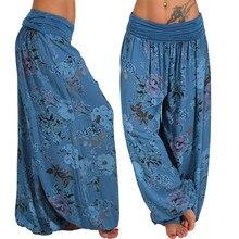 Harem-Pants Loose-Trousers Wide-Leg Print High-Waist-Band-Width A20 S-5XL Bohemia Baggy