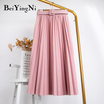 Beiyingni High Waist Women Skirt Casual   5