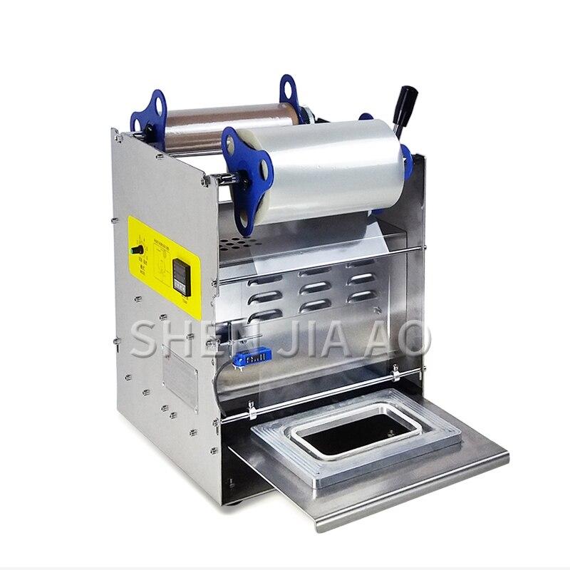 Сваренный аппарат для упаковки продуктов в пластиковой посуде, упаковочная машина для обеда, полуавтоматическая машина для запечатывания фаст-фуда, 220 В, 1 шт