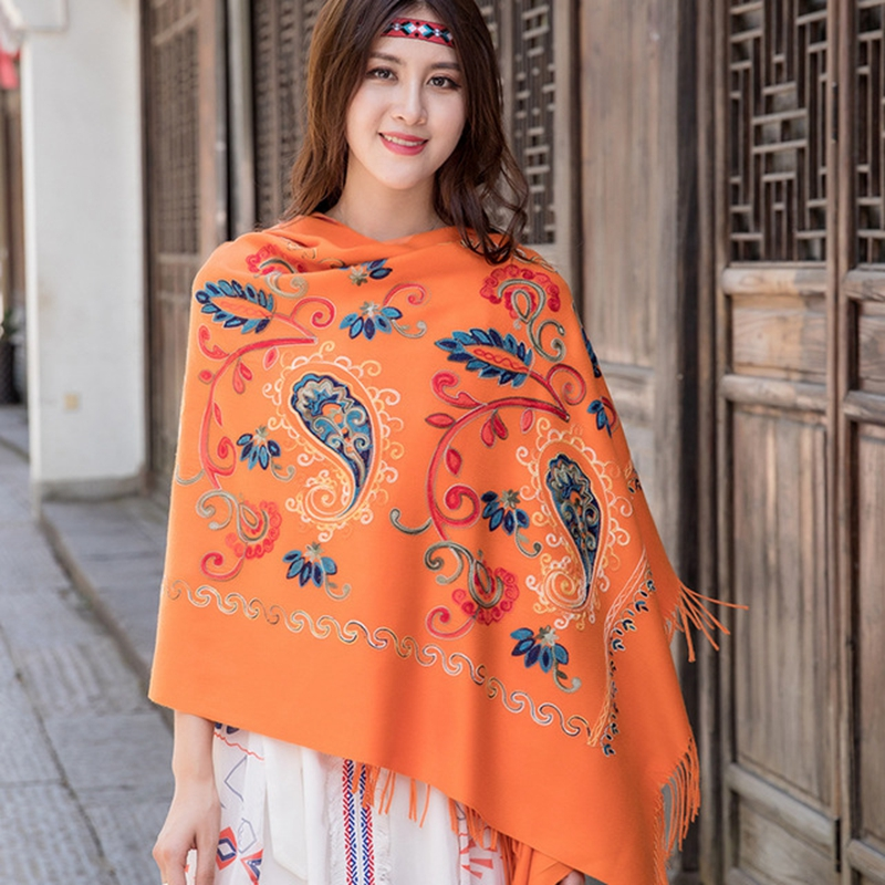 Long Travel All-Match Soft Tassel High-end atmosphere Lace Appliques Shawls Cape For Prom Scarf Shawl шарфы женские зимние