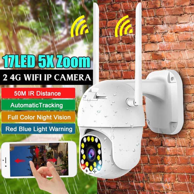 5X Zoom Camera 2.0MP HD 1080P PTZ IP Camera Outdoor IP Pan Tilt IR Network Security Wifi Camera Wireless Camera IP Camera