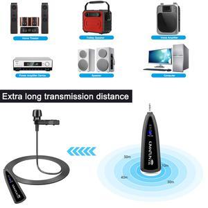 Image 2 - KIMAFUN 2,4G беспроводной петличный микрофон, воротник с отворотом, прищепка, микрофон для записи телефона, микрофоны для телефонов Iphone, Android, Youtube