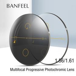 BANFEEL 1,56 1,61 Index Multi Fokus Progressive Objektiv Photochrome Harz Objektiv CR-39 Rezept Myopie Presbyopie Brillen