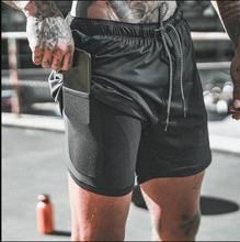 Men's Mtb Shorts 2 In 1double-deck Shorts Mens Fitness Bodybuilding Breathable Quick Drying Short Gyms Men Casual Joggers Shorts 2019 new camouflage men bermuda shorts pocket polyester camo casual beach shorts quick drying gyms fitness bodybuilding