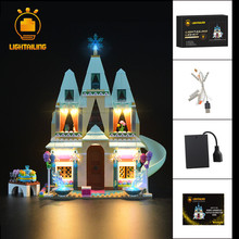 цены LIGHTAILING LED Light Up Set For Elsa Anna Arendelle Castle Celebration Building Block Model Light Set Compatible With 41068