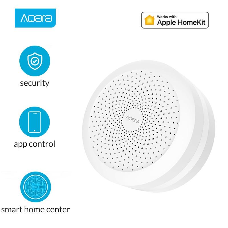 Aqara Hub mi Gateway com RGB Conduziu a luz da noite de Controle De Casa Inteligente Sistema de trabalhar com A Apple Homekit e mi jia app para xiaomi Para Casa