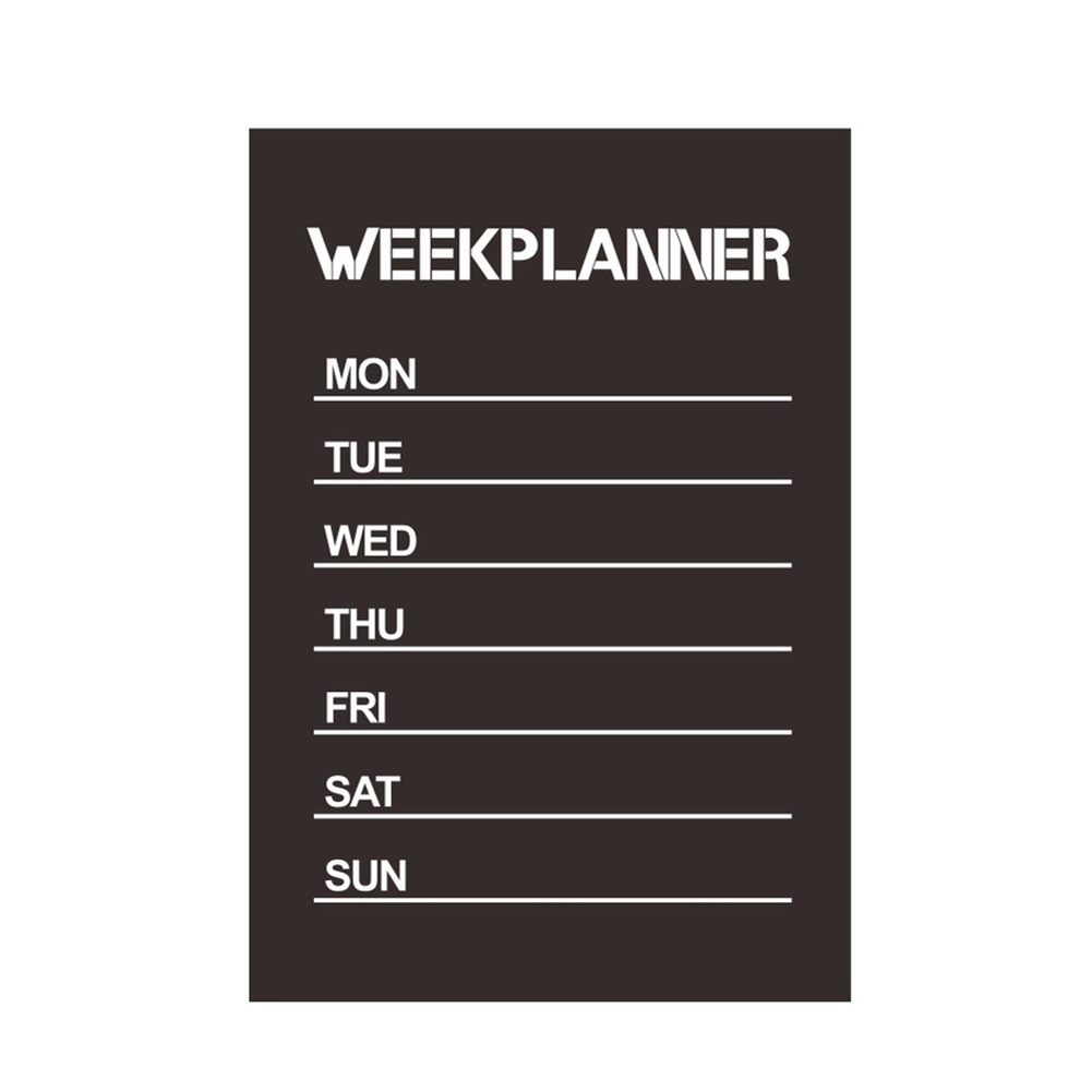 Week Plan Chalkboard Office Supplies Home Decor Self Adhesive Reminder Removable Kids Room PVC Wall Paster Blackboard Sticker