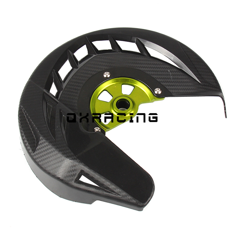 Motorcycle Front Brake Disc Cover Guard Protector For KX 125 250 KX125 KX250 2006-2008 KX250F KX450F 2006-2015 KLX450 08-15