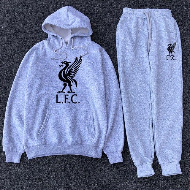 Fashion Men's Sportswear Casual Hooded Sportswear Set 2020 New Liverpool Football Sportswear + Men's Hooded Sportswear 5