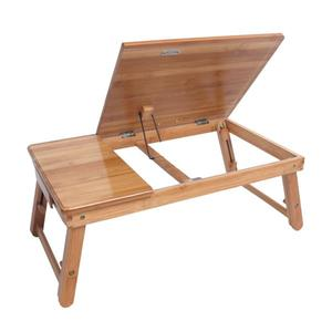 53cm Adjustable Bamboo Computer Desk Laptop Table Notebook Desk Stand For Bed Sofa Bed Tray