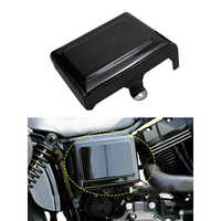 Motorcycle LEFT Side Battery Cover Guard Frame Fits for Dyna Fat Bob Super Glide Wide Glide Switchback 06-17 (Gloss Black)